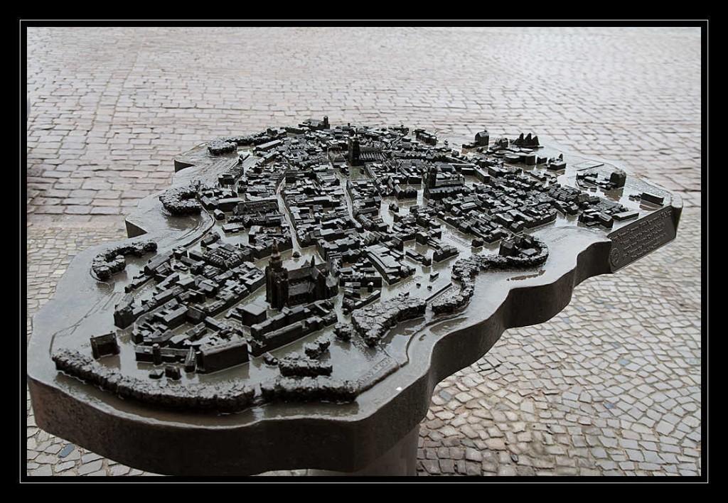 Vollständiges Tastmodell der Hansestadt Stralsund aus der Vogelperspektive
