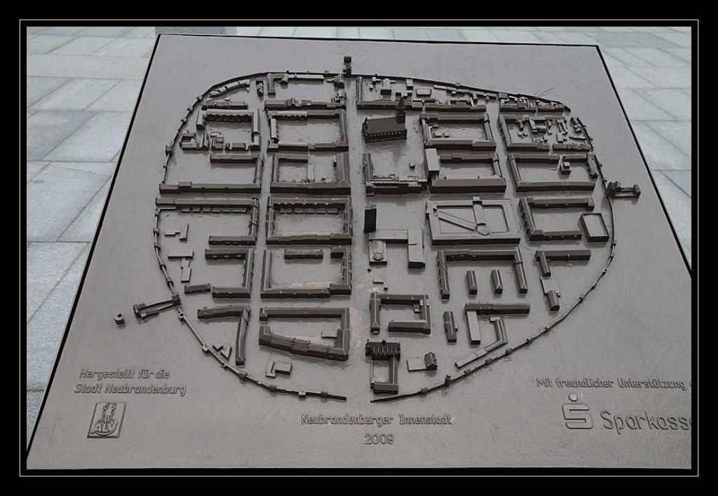 Das Tastmodell der Stadt Neubrandenburg aus der Vogelperspektive