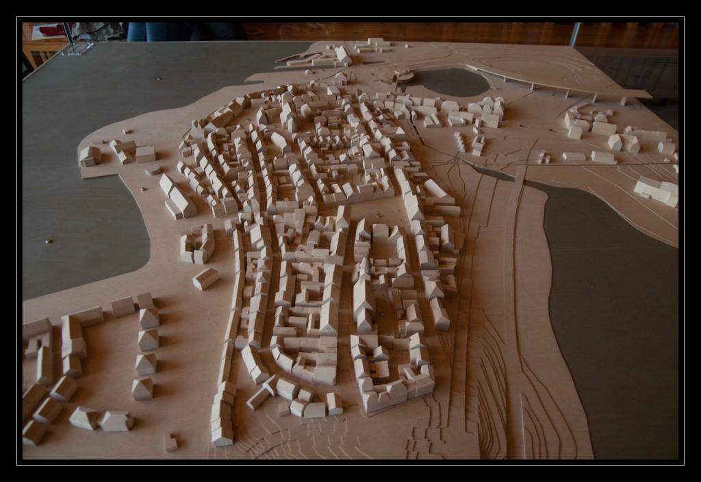 Foto: Holzmodell der Warener Innenstadt inkl. der angrenzenden Seen