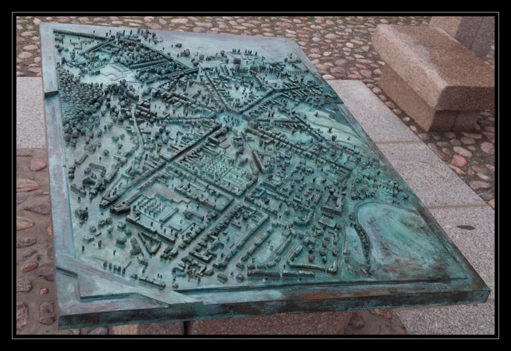 Foto: Neustrelitzer Stadtmodell aus der Vogelperspektive