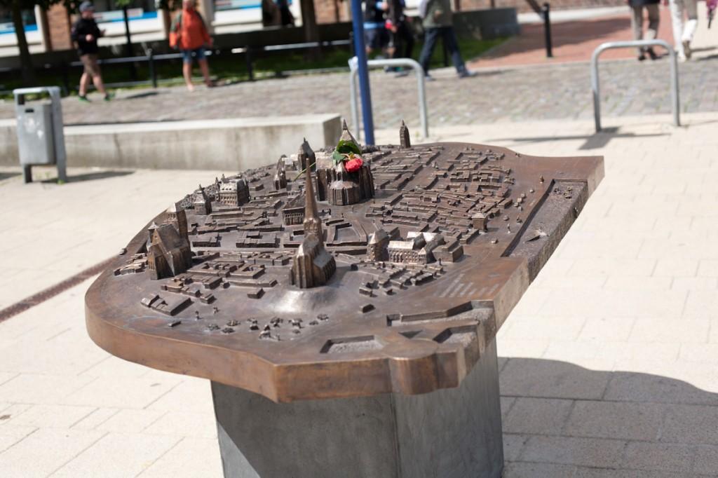 Bild: Das Tastmodell der Rostocker Innenstadt in vollem Ausmaß.