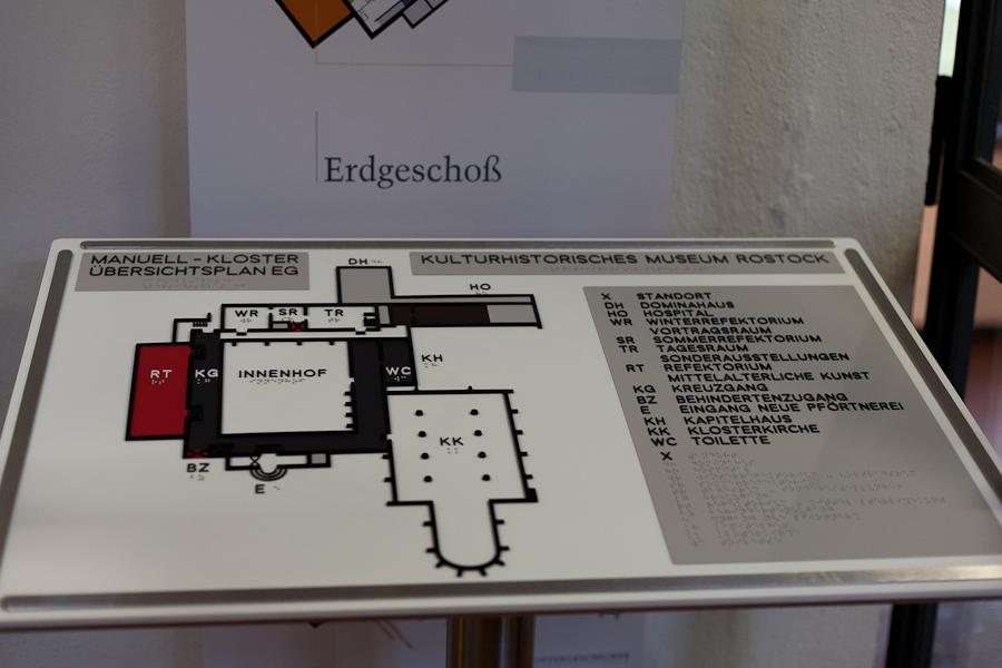 Bild: Tasttafel des Kulturhistorischen Muserum