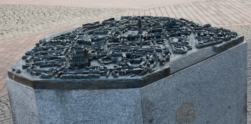 Foto: Das vollständige Tastmodell der Hansestadt Wismar