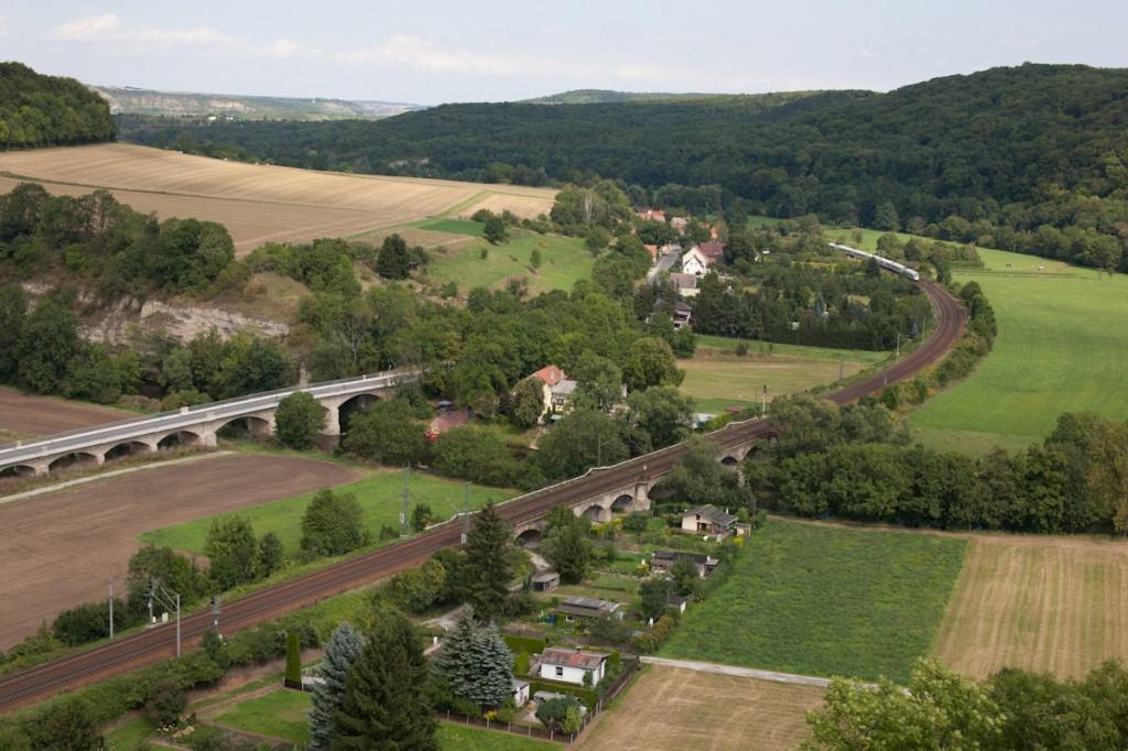 Atemberaubender Blick von der Rudelsburg ins Tal