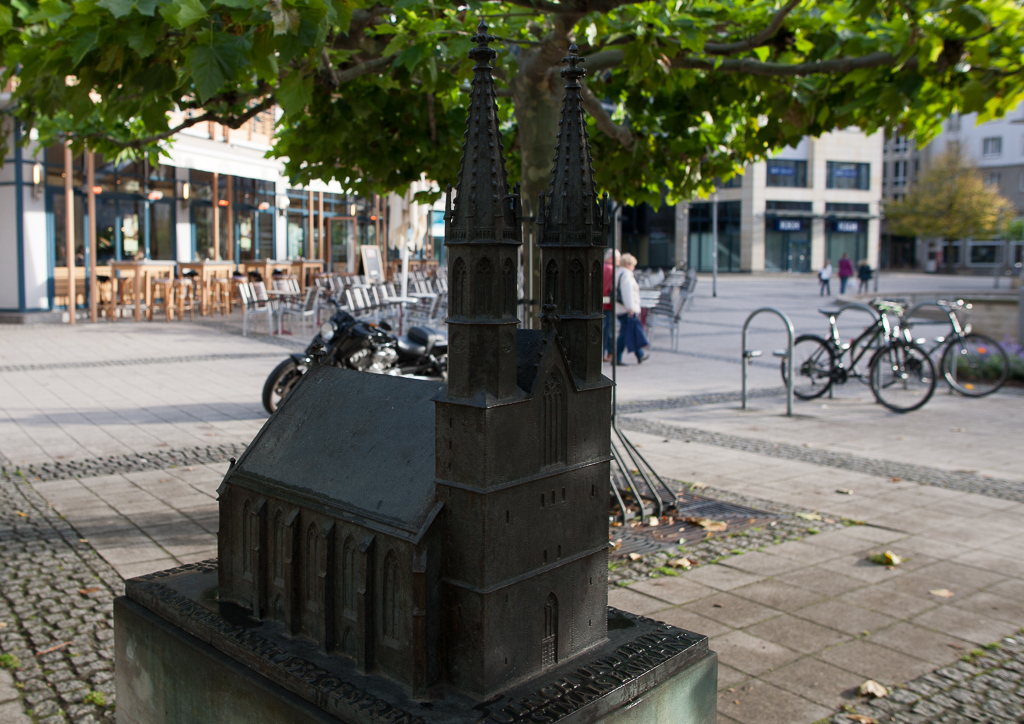 Foto: Tastmodell der Ulrichskirche