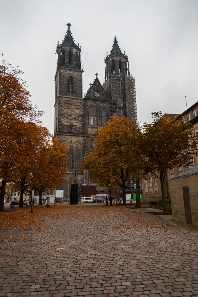 Foto: Blick auf die Türme des Magdeburger Doms